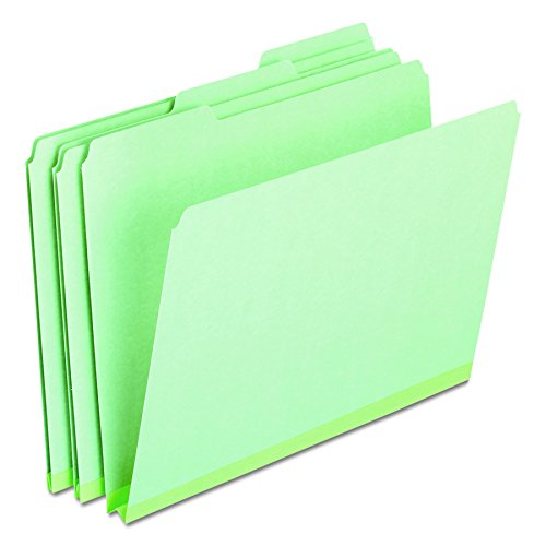 Pendaflex 17167 Pressboard Expanding File Folders, 1/3 Cut Top Tab, Letter, Green (Box of 25)