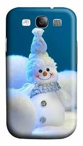 Snow Man Christmas Decoration Custom Polycarbonate Hard Case Cover for Samsung Galaxy S3 SIII I9300