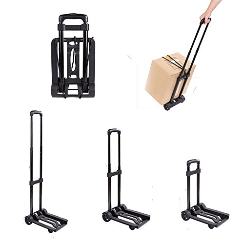 Keland Portable Small Folding Push Hand Truck Trolley, Hand Collapsible Luggage Flatbed Dolly Trolley Cart Truck, US STOCK