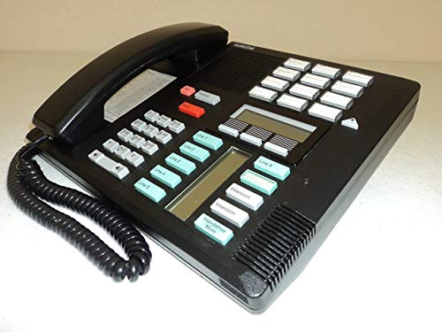 Nortel Meridian Phone System - Nortel/Meridian M7310 PBX Black 4-7 Line Telephone with Speaker (Norstar NT8B20) (Renewed)
