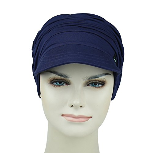 Cotton Newsboy Beanie For Cancer Women Stylish Cap Summer Picnic Headwear For Hair Loss by FocusCare (Image #2)