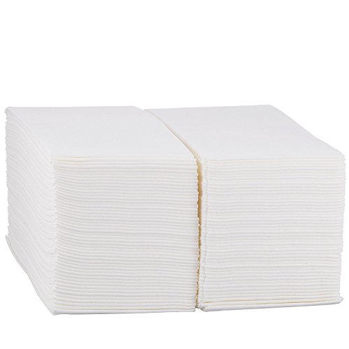 Linen Feel Hand Napkins - Disposable Cloth Like Paper Napkins - Soft and Absorbent, Paper Hand Towels for Kitchen, Bathroom, Parties, Weddings, Dinners or Events - White Guest Towel 200 Count