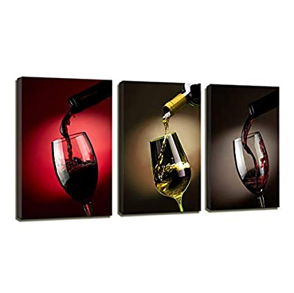 Amazon.com: Wall Pictures Kitchen Wall Decor Modern Painting Canvas ...