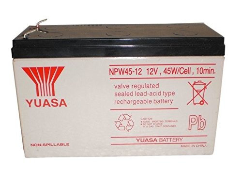 Yuasa NPW45-12 12V 9Ah UPS Battery - This is an AJC Brand Replacement AJC Battery