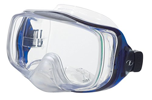 TUSA Imprex Hyperdry Panoramic View Low Volume Scuba Mask (Cobalt Blue) - Edge Panoramic Low Mask