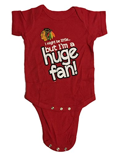 (Chicago Blackhawks BABY INFANT Red Huge Fan Lap Shoulder One Piece Outfit (6M))
