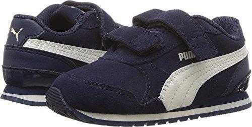 PUMA Baby ST Runner SD Velcro Kids Sneaker, Peacoat-Whisper White, 5 M US ()