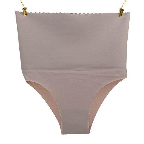 Ultra-thin High Waist Slimming Underwear Women Seamless Panties Gray -