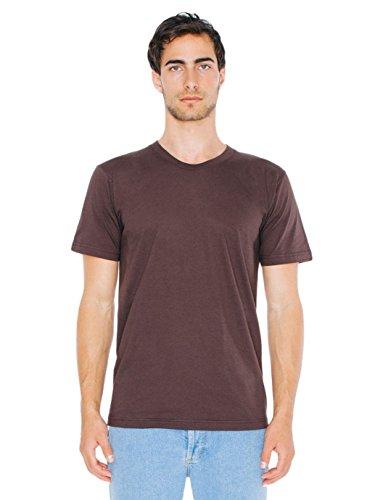American Apparel  Unisex Fine Jersey Short Sleeve T-Shirt, Brown, Small