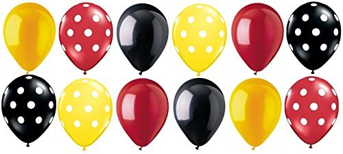 nspired Polka Dot Latex Balloons Party Decoration Disney B (Mouse Latex)