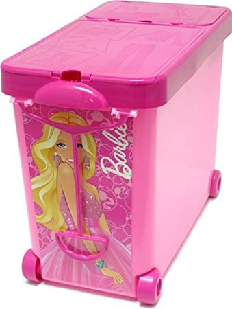 Barbie Store It All Pink Storage Container Plastic Box