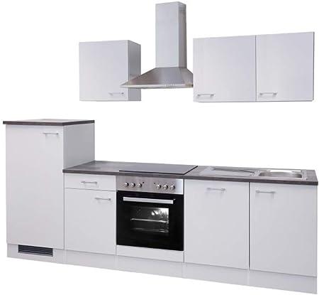 Smart Möbel Toska - Bloque de Cocina (280 cm, con Fregadero, frigorífico, lavavajillas y Fregadero), Color Blanco: Amazon.es: Juguetes y juegos