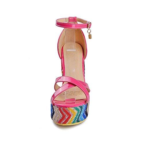 Ciabatta Da Donna Colore Balamasa Abbinata Ai Cunei Di Sandalo In Misto Colore Rosa
