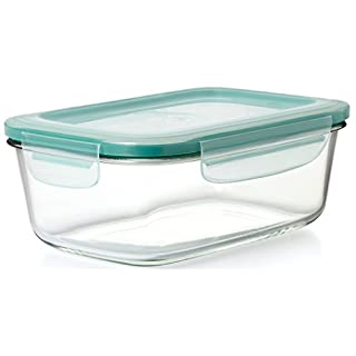 OXO Glass Rectangle Food Storage Container, 8 Cup, Clear