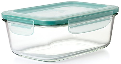 OXO Good Grips 8 Cup Smart Seal Leakproof Glass Rectangle Food Storage ()