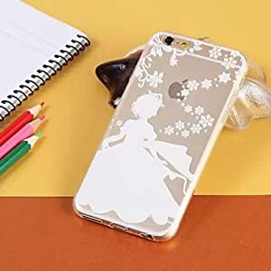 QHY Decorative pattern Transparent TPU Pattern Soft Case for iPhone 6