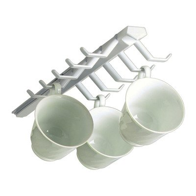 Spectrum Diversified 34100 White Sliding Cup Rack Cup Rack