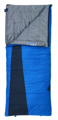 Kelty Callisto 35 Degree Rectangular Synthetic Sleeping Bag, Dark Blue, Outdoor Stuffs