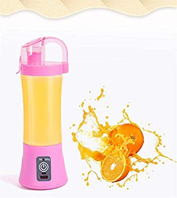 Licuadora portátil Copa de jugo USB recargable Electrico Máquina automática de jugo de naranja cítrica de vegetales ...