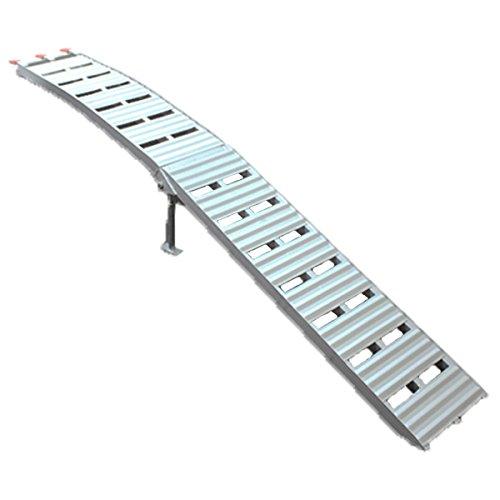 ラダーレール アルミ 折りたたみ アルミラダー アルミスロープ アルミブリッジ 歩み板 450kg 1本 B076P77W4B