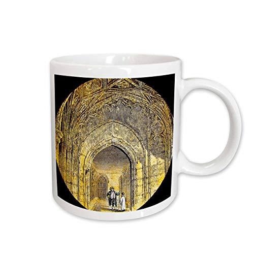 (3dRose Scenes from the Past Magic Lantern - Victorian Era Magic Lantern Slide Windsor Castle The Cloisters Vintage - 15oz Mug (mug_246139_2))