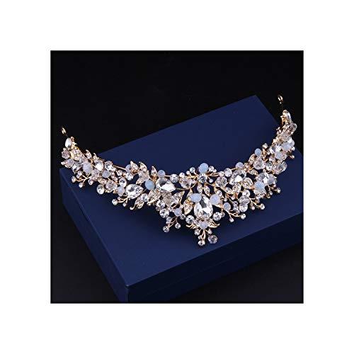 Metallic Lace Imperial Crown - Baroque Luxury Crystal Bridal Crown Tiaras