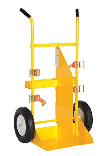 Vestil CYL-E Steel Cylinder Torch Cart Pneumatic Wheel, 500 lb, 23