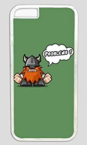 Funny Angry Viking Thanksgiving Halloween Masterpiece Limited Design PC Transparent Case for iphone 6 by Cases & Mousepads