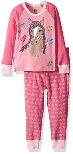 John Deere Toddler Pajamas - John Deere Girls' Toddler PJ, Medium Pink, 4T