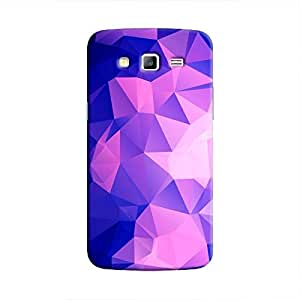 Cover It Up - Dark Purple Pixel Triangles Samsung Galaxy J5 Hard Case