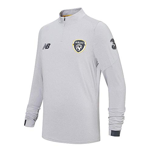 New Balance 2019-2020 Ireland On Pitch Midlayer Top (Grey)