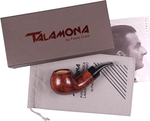 Talamona By Paolo Croci #2 Natural ''Reverse Calabash'' Chubby Bent 9MM Tobacco Briar Pipe