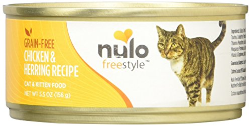 Nulo Grain Free Canned Wet Cat Food (Chicken & Herring, 5.5 oz, Case of 24)