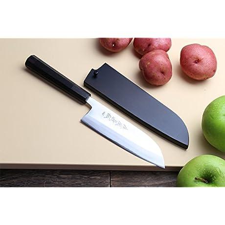 Yoshihiro High Speed Stainless Steel Santoku Multipurpose Chef S Knife 6 5 Inch