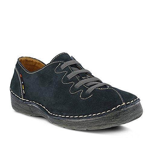 Spring Step Women's Prestigious Fashion Sneaker, Navy, 42 EU/10.5-11 M US