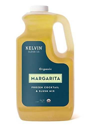 (Kelvin Slush Co. - Margarita - Organic Frozen Cocktail & Slush Mix - Award-Winning Slush Machine & Blender Mix, Bars, Restaurants, At Home (64 oz bottle))