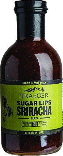 Traeger SAU032 Sugar Lips Sriracha Glaze Sauce, 16 OZ, Brown (Glaze Beef)