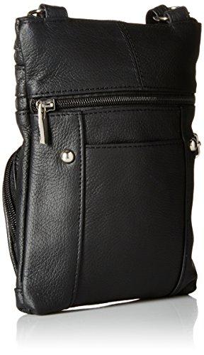 Multi Roma Bag Leather Crossbody Pocket Leathers Genuine Black r7qtz7