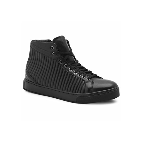 Exton Sneaker High Man Cuir Noir