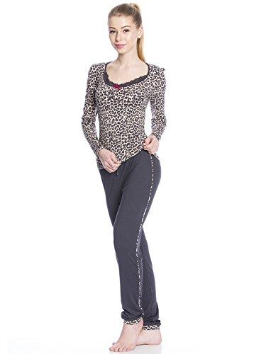 Vive Maria Sleepy Leo Pyjama Schlafanzug grau/leopard allover-Druck