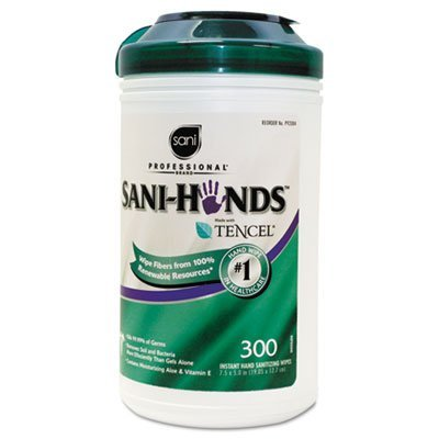 Sani-Hands II Sanitizing Wipes, 7 1/2 x 5 1/2, 300/Canister, Sold as 1 Each by Sani Professional by Sani Professional (Image #2)