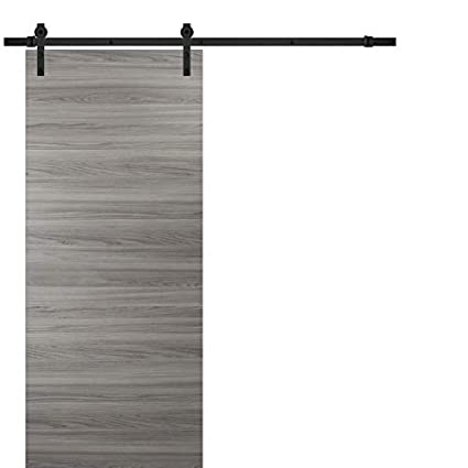 Sliding Barn Door 30 X 80 With Hardware Planum 0010 Ginger Ash 66ft Rail Hangers Stops Steel Set Modern Solid Panel Interior Door