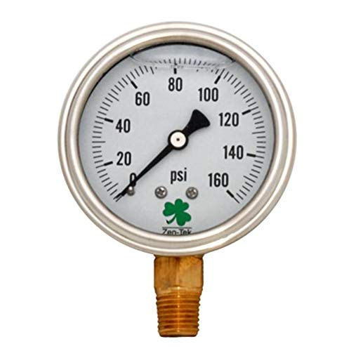 TotalTurf Liquid Filled Pressure Gauge 0-160 Psi, Box of 10 from TotalTurf