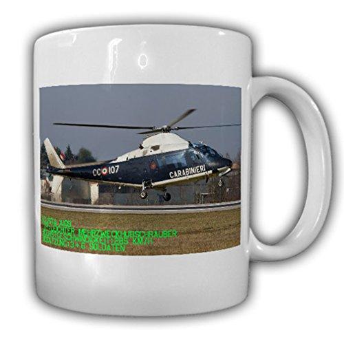 Agusta Westland AW109 Helicopter Heli Carabinieri police military - Coffee Cup Mug