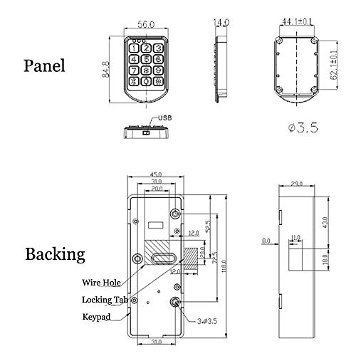 electronic cabinet lock - digital keypad cabinet lock with password entry