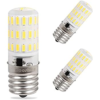 Aooshine E17 Dimmable LED Bulb Microwave Oven Light 4 Watt Daylight White 6000K, 40W Halogen Bulb Equivalent Replacement Incandescent Bubl, 3-Pack