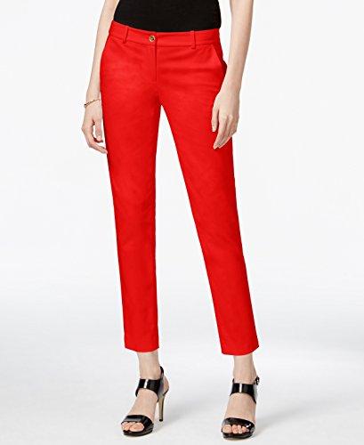Michael Kors Women's 6X28 Miranda Skinny Dress Pants Red - Kors Miranda Michael