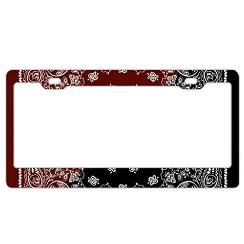 (XXXRong Tatoo Pattern Background Aluminum alloy Metal Auto License Plate Frame Car Tag 12