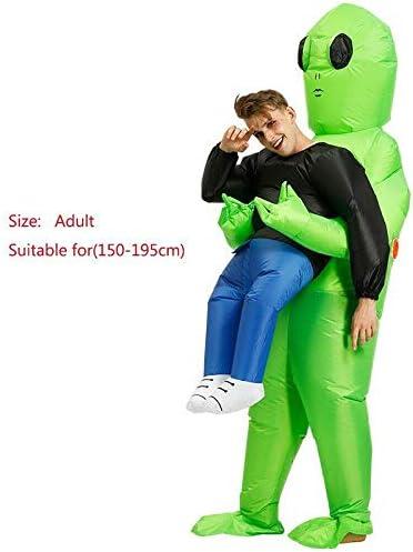 Reuvv - Disfraz de alienígena verde que lleva a un humano ...