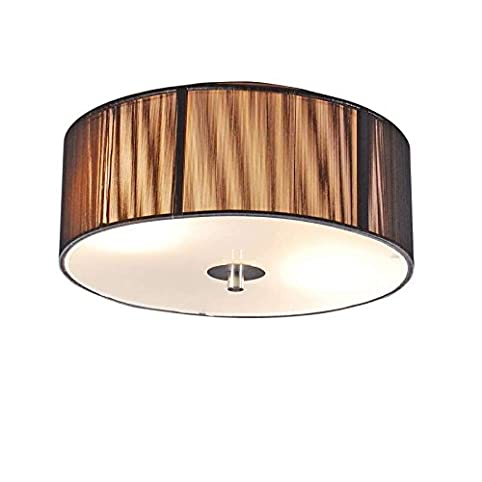 QAZQA Design Modern Deckenleuchte Deckenlampe Lampe Leuchte Drum Mit Schirm Rope